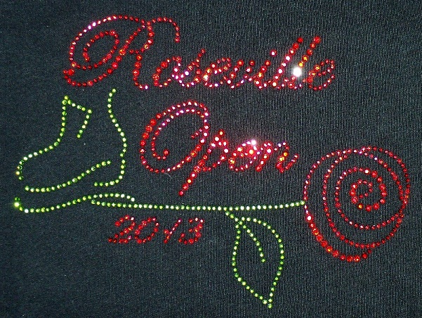 Roseville skating custom rhinestone shirt