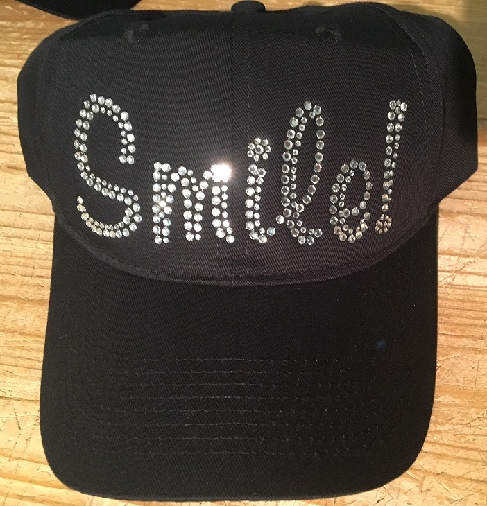 SMILE dentist office rhinestone cap