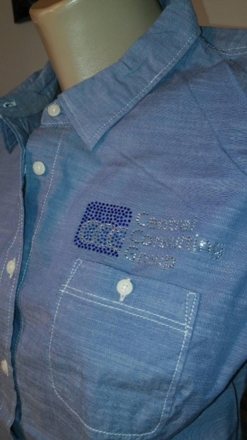 CCC bling denim shirt