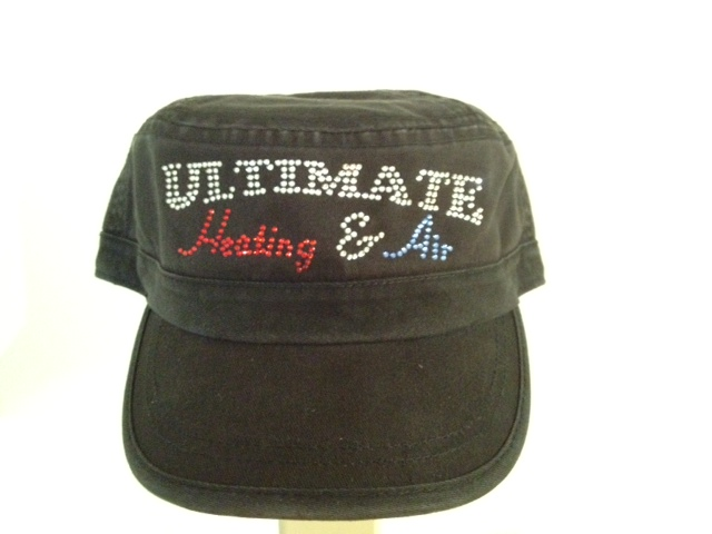 Ultimate Heating & AC rhinestone cadet cap