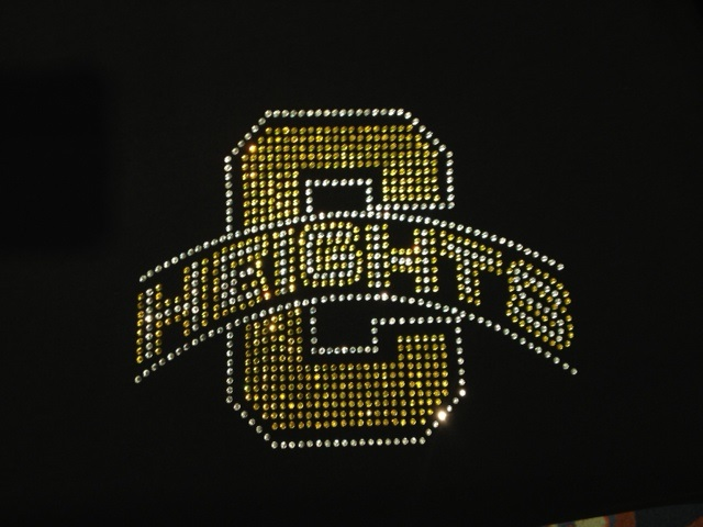 C Heights sparkling rhinestone design