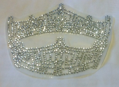 Custom rhinestone and Swarovski crystal Miss America pageant crown