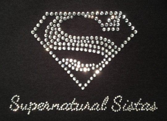 sparkle sisters custom crystal shirt