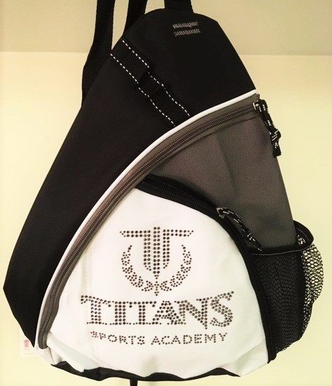 Titans Sports Academy tanzanite rhinestone backpack