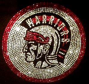 warriors custom rhinestone apparel