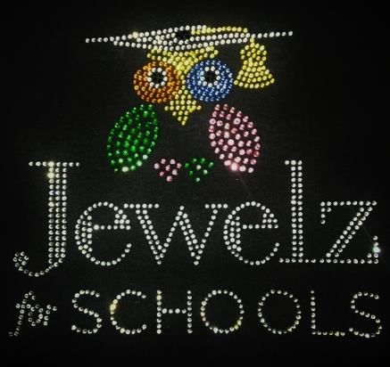 Jewelz for Schools rhinestone design