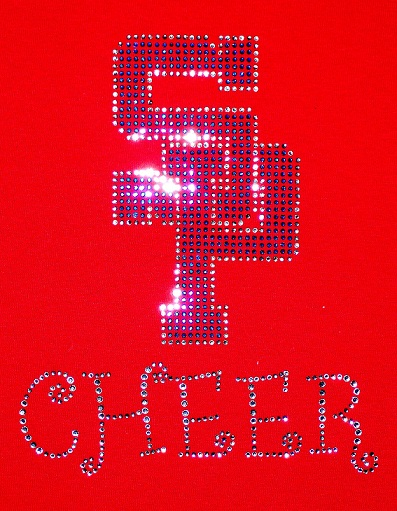SP cheer rhinestone design