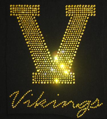 vikings custom rhinestone shirt