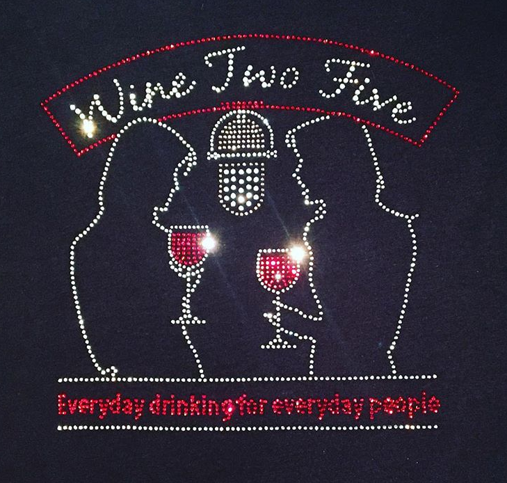 wine2five rhinestone sparkle