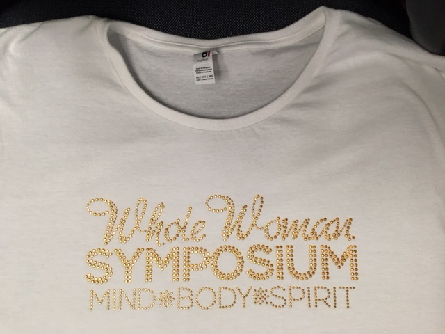 Whole Woman Symposium gold rhinestud shirt