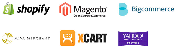 Ecommerce Yahoo! Magento Big Commerce Miva Merchant, X-Cart, Shopify
