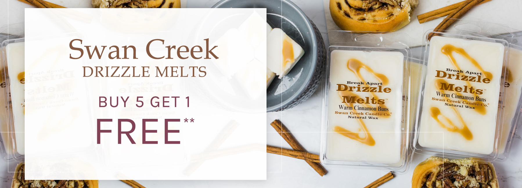 Swan Creek - Drizzle Melts - Buy 5 Get 1 FREE