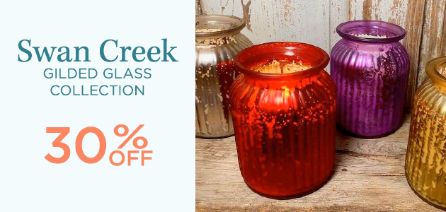 Swan Creek - Gilded Glass Collection - 30 Percent OFF