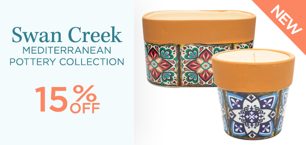 Swan Creek - Mediterranean Pottery Collection - 15 Percent OFF - NEW