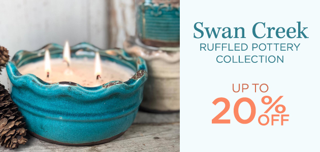 Swan Creek - Ruffled Pottery Collection - 15 Percent OFF