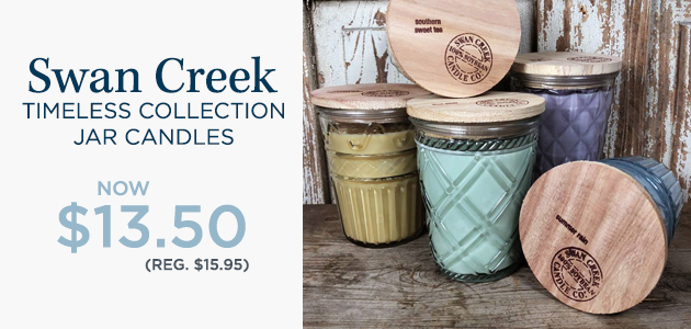 Swan Creek - Timeless Collection Jar Candles - NOW $13.50 - Reg. $15.95