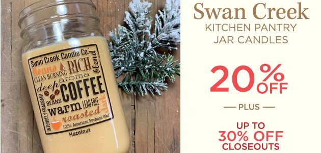 Swan Creek - Kitchen Pantry Jar Candles - 20 Percent OFF - Plus Up To 30 Percent OFF Closeouts