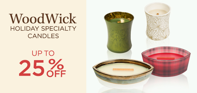 WoodWick - Holiday Specialty Candles - Up To 25 Percent OFF
