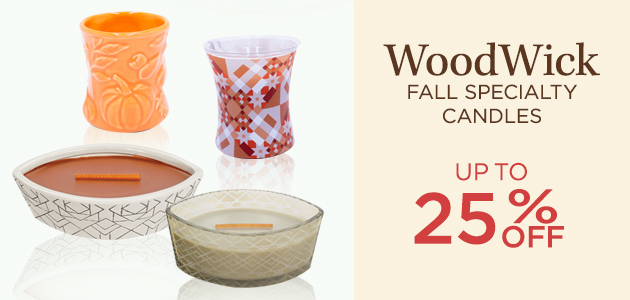 WoodWick - Fall Specialty Candles - Up To 25 Percent OFF