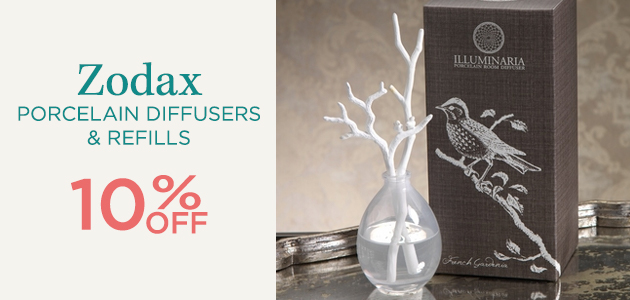 Zodax - Porcelain Diffusers and Refills - 10 Percent OFF