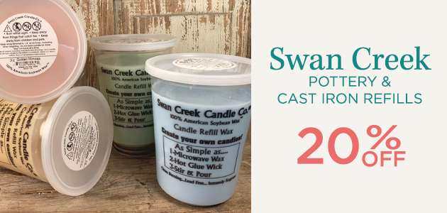 Swan Creek - Pottery and Cast Iron Refills - 20 Percent OFF