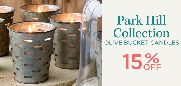 Park Hill Collection - Olive Bucket Candles - 15 Percent OFF
