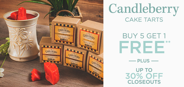 Candleberry - Cake Tarts - Buy 5 Get 1 FREE** - Plus Up To 30 Percent OFF Closeouts