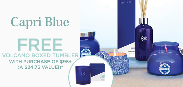 Capri Blue - FREE Volcano Boxed Tumbler with Purchase of $95+ - A $24.75 Value*