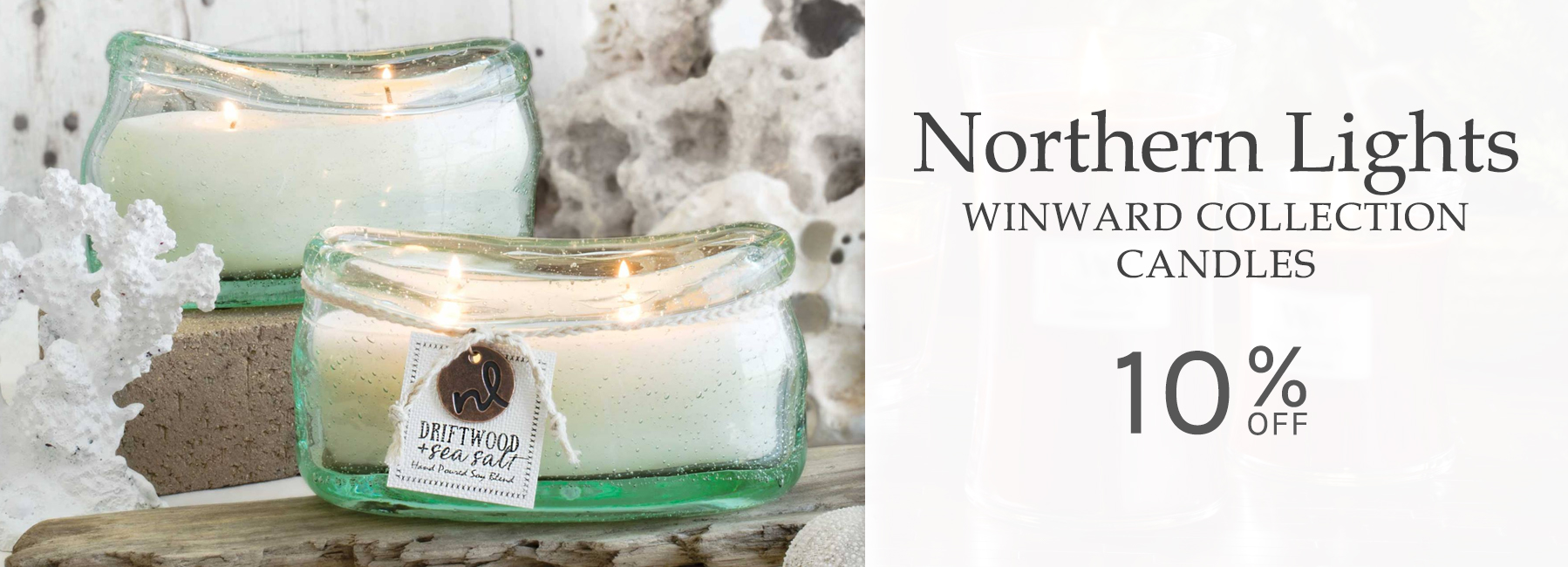 Northern Lights - NEW Winward Collection Candles - 10 Percent OFF