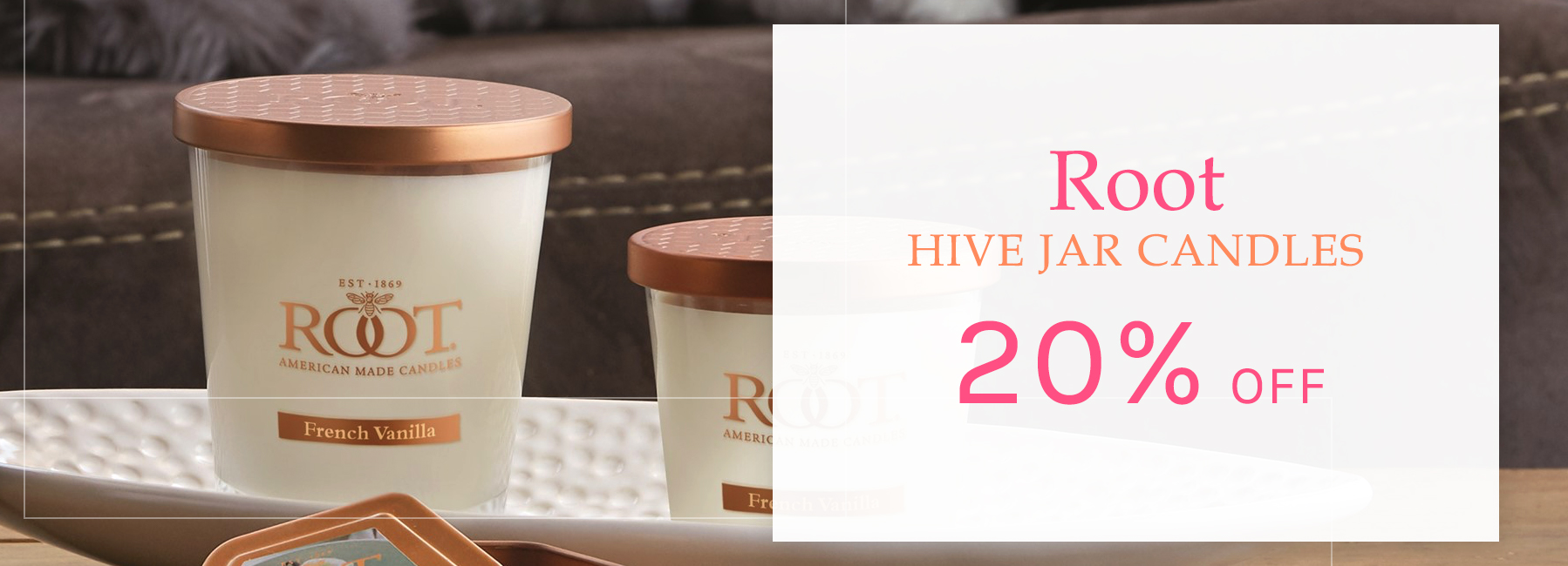 Root Candles - Hive Jar Candles - 20 Percent OFF