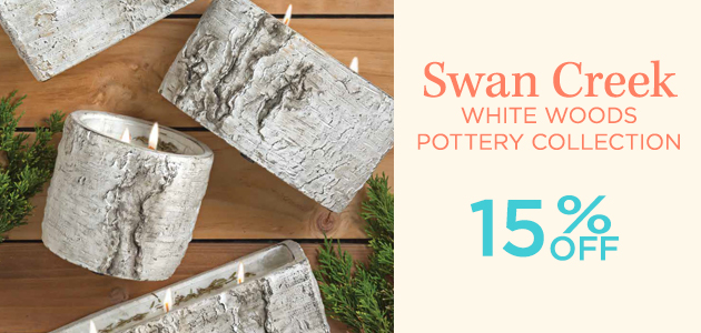 Swan Creek - White Woods Pottery Collection - 15 Percent OFF