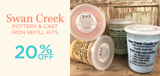 Swan Creek - Pottery and Cast Iron Refill Kits - 20 Percent OFF