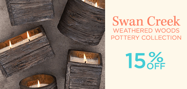 Swan Creek - Weathered Woods Pottery Collection - 15 Percent OFF