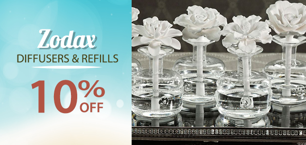 Zodax Diffusers & Refills  10% OFF
