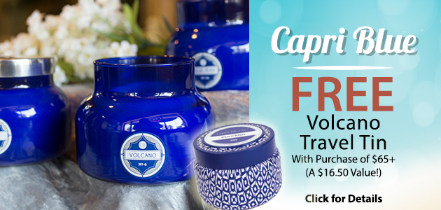Capri Blue  FREE Volcano Travel Tin with Purchase of $65+ (A $16.50 Value!)  Click for Details