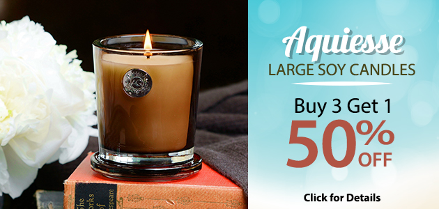 Aquiesse Large Soy Candles  Buy 3 Get 1 50% OFF  Click for Details