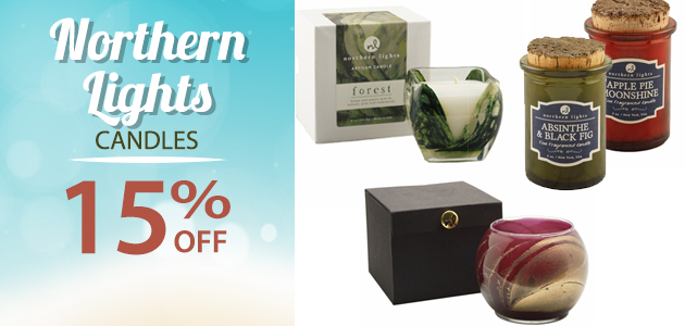 Northern Lights Candles  15% OFF