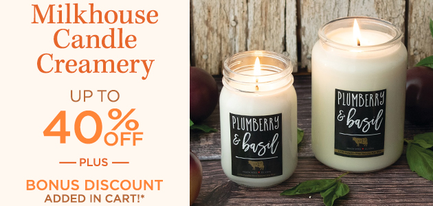 Milkhouse Candle Creamery - Up To 40 Percent OFF - Plus Bonus Discount Added in Cart*