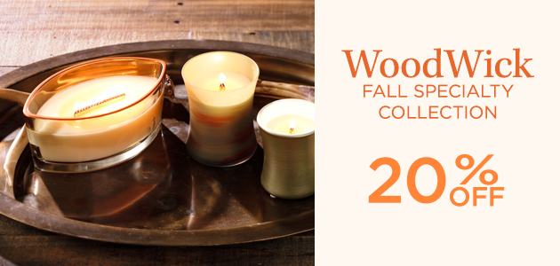 WoodWick - Fall Specialty Collection - 20 Percent OFF