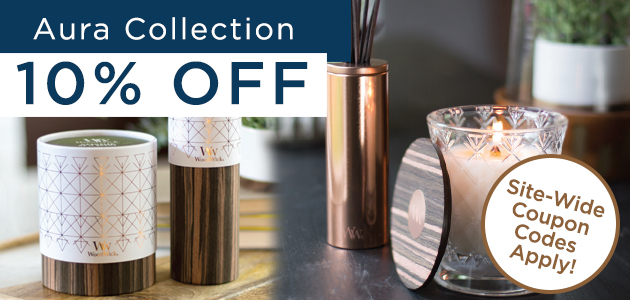 WoodWick Aura Collection - 10 Percent OFF + Site-Wide Coupons Apply