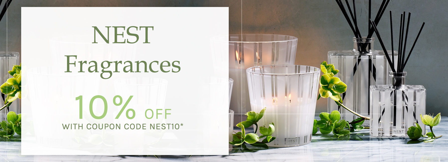 NEST Fragrances - 10 Percent OFF with Coupon Code NEST10