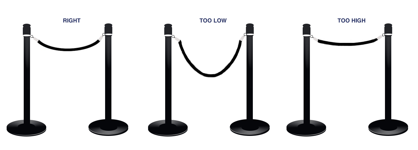 Correct Rope Stanchions Setup