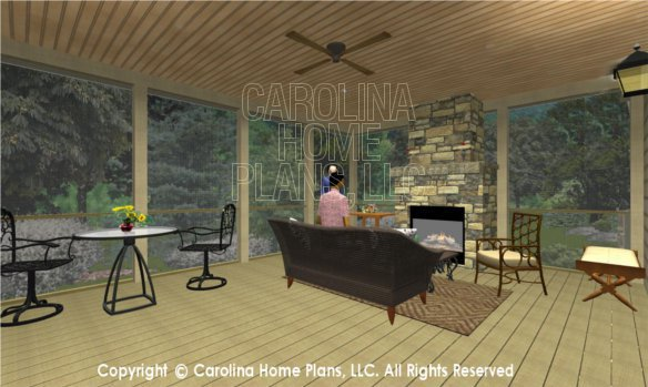 BS-1477-2715 3D Screened Porch