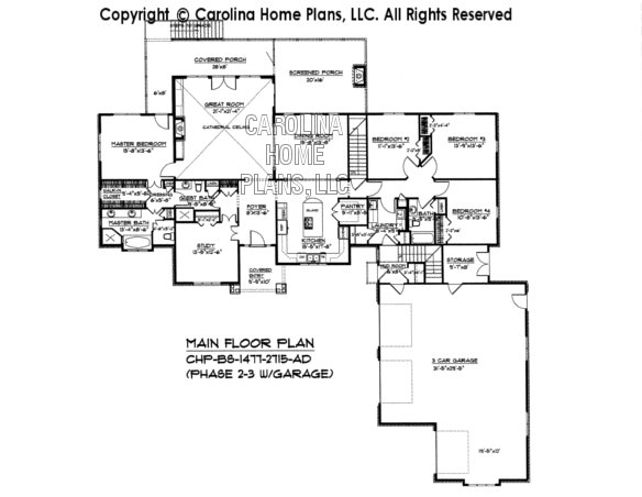 BS-1477-2715 Main Floor Plan (Phase 2-3)