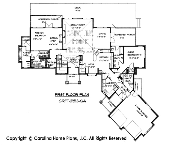 CRFT-2953 First Floor Plan