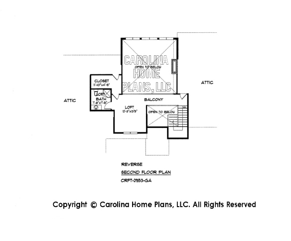 CRFT-2953 Reverse Second Floor Plan