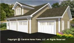GAR-525   Economical Garage-Apartment Plan