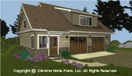 GAR-781   Economical Garage-Apartment Plan