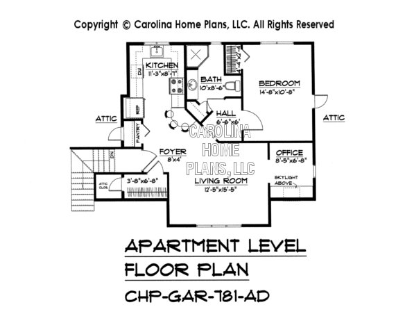 GAR-781 Upper Level Apartment Plan