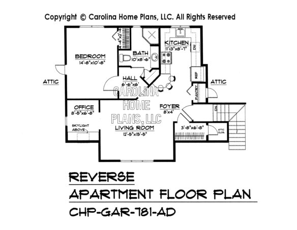 GAR-781 Reverse Upper Level Apartment Plan